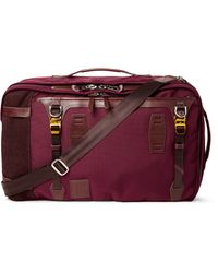Master Piece | Purple Potential Leather And Suede-trimmed Canvas Backpack for Men | Lyst