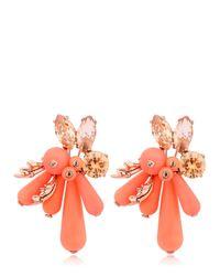 EK Thongprasert Orange Flower Silicone Earrings