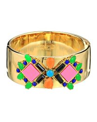 kate spade new york | Metallic Metropolis Mosaic Hinge Bangle | Lyst