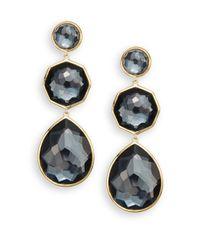 Ippolita | Metallic Rock Candy Crazy 8's Hematite & 18k Yellow Gold Drop Earrings | Lyst
