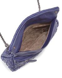 Bottega Veneta - Blue Woven Mini Cross-Body Bag - Lyst