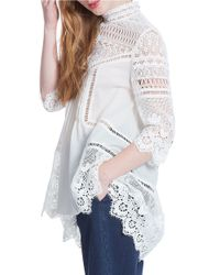 Plenty by Tracy Reese | White Scalloped Lace Hi-lo Tunic | Lyst