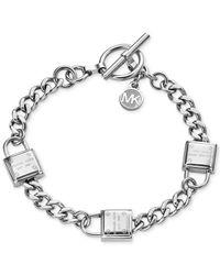 Michael Kors - Metallic Padlock Motif Toggle Bracelet - Lyst