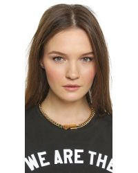 Marc By Marc Jacobs - Metallic Lock In Choker Necklace - Oro - Lyst