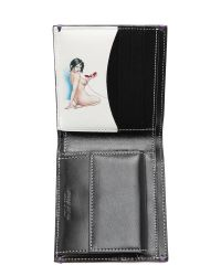 Paul Smith Black Naked Lady Billfold Coin Wallet for men