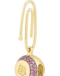 Aurelie Bidermann - Purple 18-Karat Gold Sapphire Bell Charm - Lyst