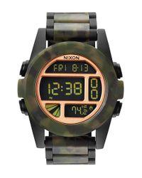 Nixon Black 'the Unit' Bracelet Watch for men
