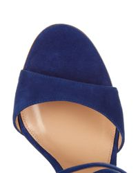 Gianvito Rossi - Blue Sisely Suede Sandals - Lyst
