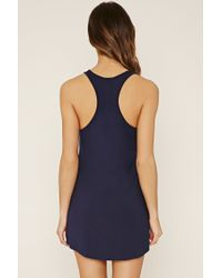 Forever 21 Blue Nap Time Graphic Nightdress