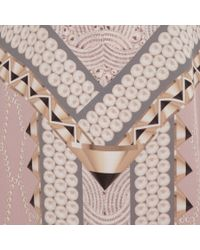 Lara Bohinc Pink Kaleidoscope Print Silk Kaftan