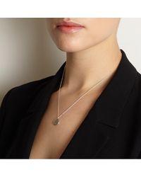 Myia Bonner | Metallic Silver J Facett Initial Necklace | Lyst
