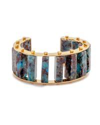 Lele Sadoughi | Metallic Stone Column C Slider Cuff, Starry Night | Lyst