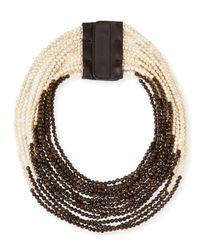 Brunello Cucinelli - Natural Riverstone Multi-Strand Necklace - Lyst