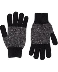 Paul Smith | Black Block Knit Wool Gloves for Men | Lyst