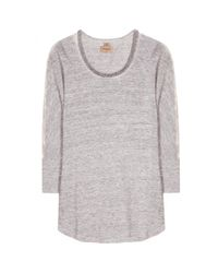 True Religion - Gray Embellished Linen Top - Lyst