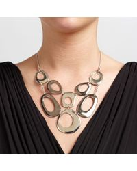John Lewis Metallic Large Cut Out Circle Necklace