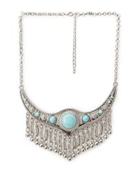 Forever 21 - Blue -inspired Chain Necklace - Lyst