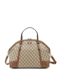 Gucci - Brown Nice Gg Supreme Canvas Tophandle Bag - Lyst