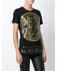 Philipp Plein - Black 'medallion' T-shirt - Lyst