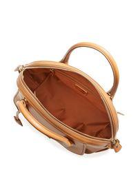 Ferragamo - Brown Fiamma Medium Leather Shoulder Bag - Camel - Lyst