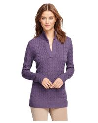 Brooks Brothers | Purple Saxxon Wool Cable Tunic | Lyst