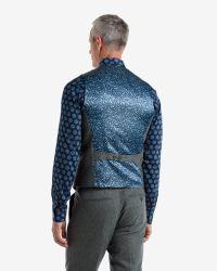 Ted Baker | Gray Wool Waistcoat for Men | Lyst