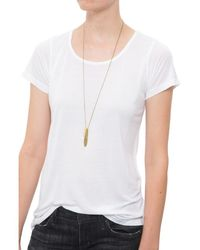 The Lady & The Sailor | White Relaxed Tee With Slits | Lyst
