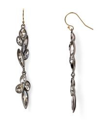Alexis Bittar Gray Miss Havisham Moonlight Dangling Wire Earrings