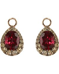 Annoushka | Multicolor 18ct Rose-gold, Garnet And Diamond Earring Drops | Lyst