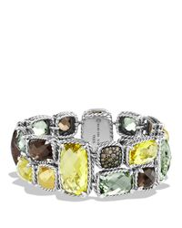 David Yurman | Metallic Mosaic Bracelet With Lemon Citrine, Cognac Diamonds & Gold | Lyst