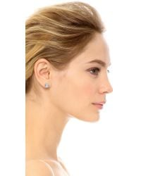 Rebecca Minkoff - Metallic Crystal Halo Stud Earrings - Silver/clear - Lyst