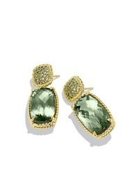 David Yurman - Yellow Chatelaine Drop Earrings With Prasiolite And Demantoid Garnets In 18k Gold - Lyst