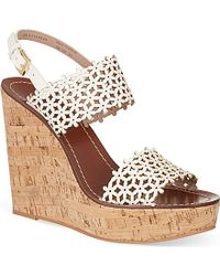 Tory Burch - Multicolor Daisy Wedge Sandals - Lyst