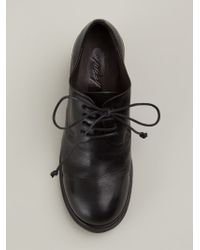 Marsèll Black Distressed Lace-up Shoes