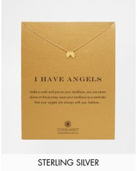 Dogeared - Metallic Gold Plated I Have Angels Reminder Necklace - Lyst