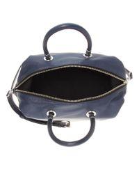 Marc By Marc Jacobs Blue Top-Zip Leather Shoulder Strap
