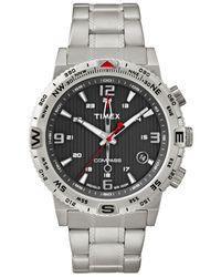 Timex - Metallic Men'S Intelligent Quartz Adventure Series Compass Stainless Steel Bracelet Watch 42Mm T2P289Ab for Men - Lyst