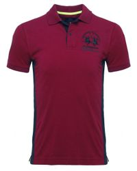 La Martina | Purple Slim Fit Maserati Polo Shirt for Men | Lyst