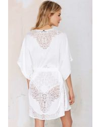 For Love & Lemons - White Forget Me Not Lace Kimono - Lyst