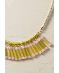 Anthropologie - Yellow Jade Fringe Necklace - Lyst