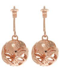 Alex Monroe - Pink Rose Gold-plated Peacock Hook Earrings - Lyst