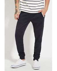 Forever 21 | Blue Contrast-trim Joggers for Men | Lyst