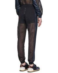Cottweiler Blue Navy Sheer Robe Lounge Pants for men