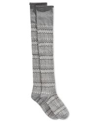 Lucky Brand | Gray Jacquard Texture Over-the-knee Socks | Lyst
