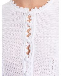 RED Valentino White Crochet Midi Dress