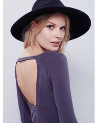 Free People | Gray Violet Layering Top | Lyst