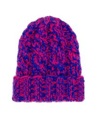 Eugenia Kim | Pink Mika Hand-knit Cable Beanie | Lyst