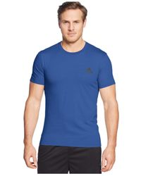 Adidas Originals | Blue Men's Go-to Performance Crew-neck T-shirt for Men | Lyst