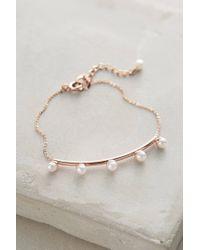Anthropologie | White Budding Pearl Bracelet | Lyst