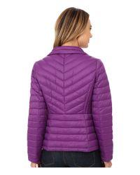 MICHAEL Michael Kors - Purple Short Zip Packable Down - Lyst